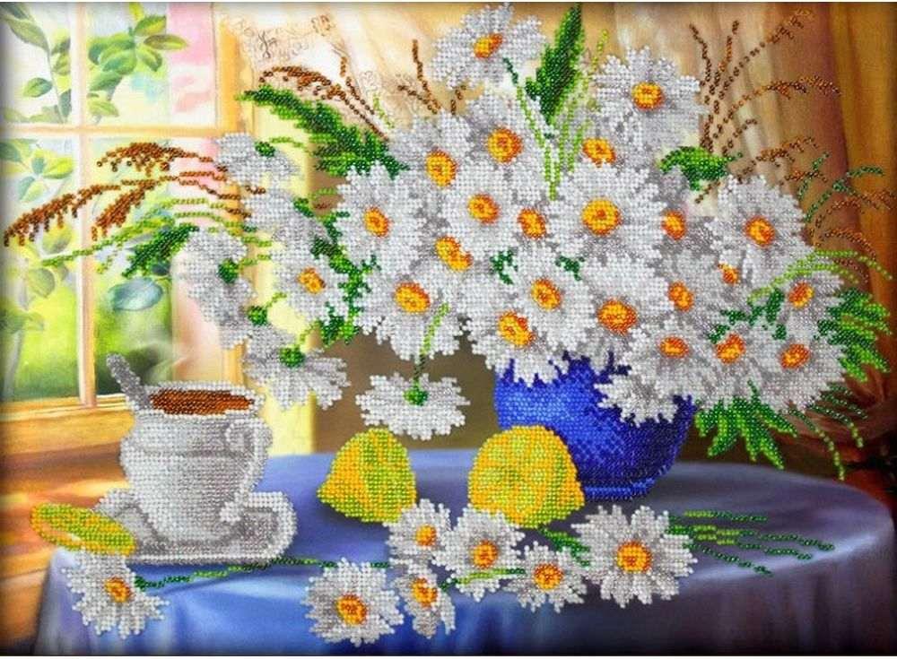 Набор вышивки бисером Паутинка Утренний чай фото