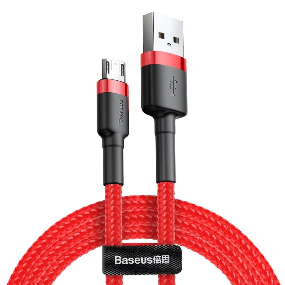 Кабель Baseus Cafule USB - Micro USB 2A 3м Red/Black (CAMKLF-H09)