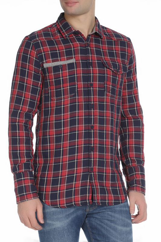 Рубашка мужская Amsterdenim AM1603434350 красная M