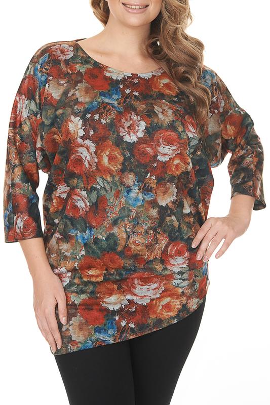 Блуза женская MONTEBELLUNA AW-TU 16012-1 разноцветная 48 RU фото