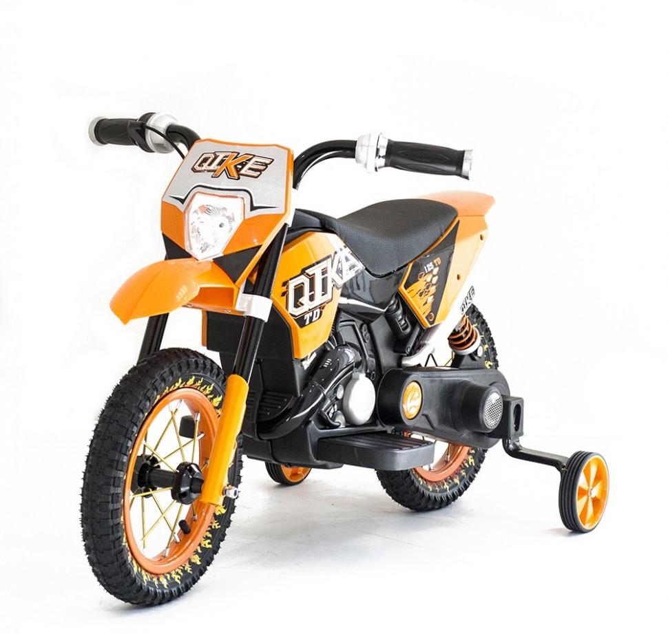 Детский кроссовый электромотоцикл Qike TD Orange