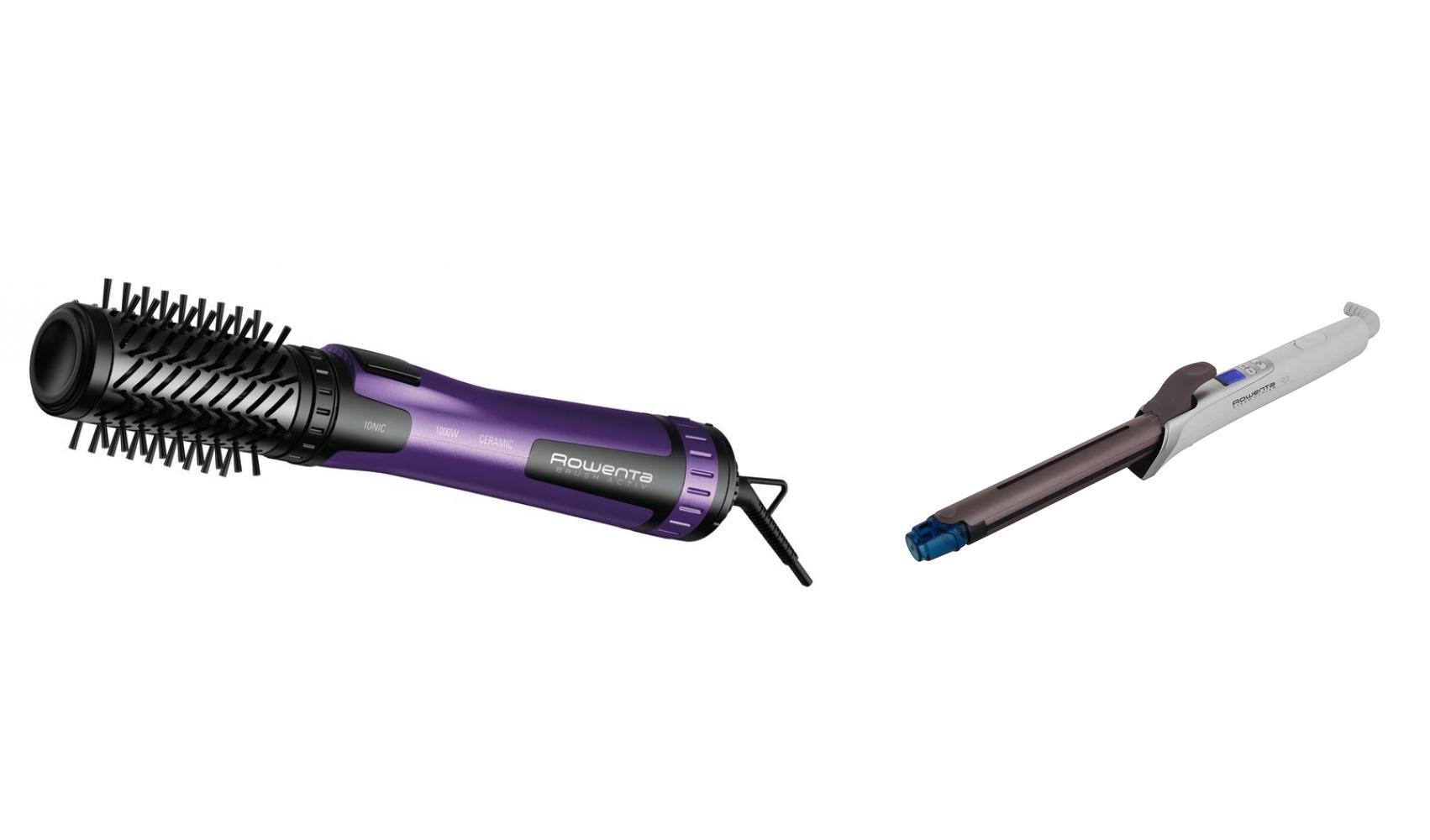 Комплект Фен-щетка Rowenta Brush Activ Compact CF9524 + Электрощипцы Rowenta CF3810 фото