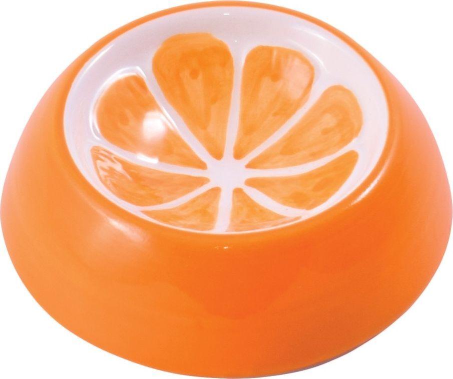 Миска для грызунов КерамикАрт Апельсин, керамическая, оранжевая,