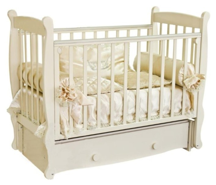 Купить Кровать детская Красная Звезда Елисей С 717 резьба со стразами № 5 Паровозик Ваниль, Красная звезда, Классические кроватки