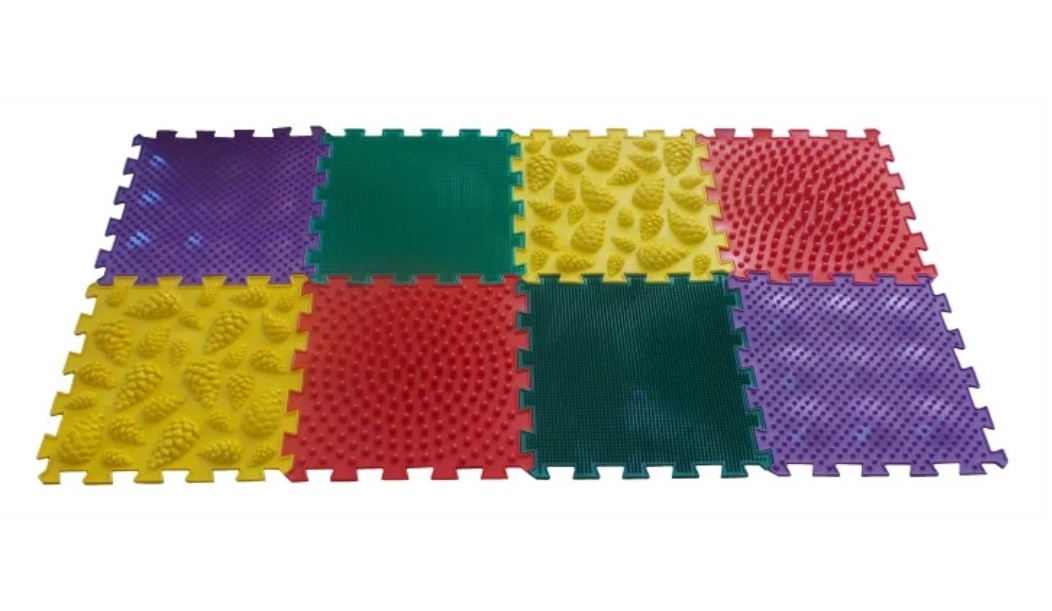 Купить Массажный коврик ОРТО ПАЗЛ, Микс Универсальный , ОртоПазл, Развивающие коврики и центры