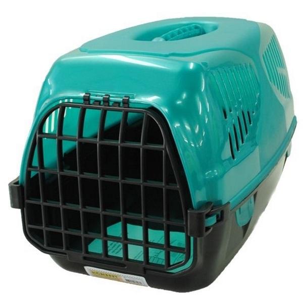 Переноска Homepet Путешественник для кошек и собак (Д 50 х Ш 33 х В 35 см, Бирюзовый)