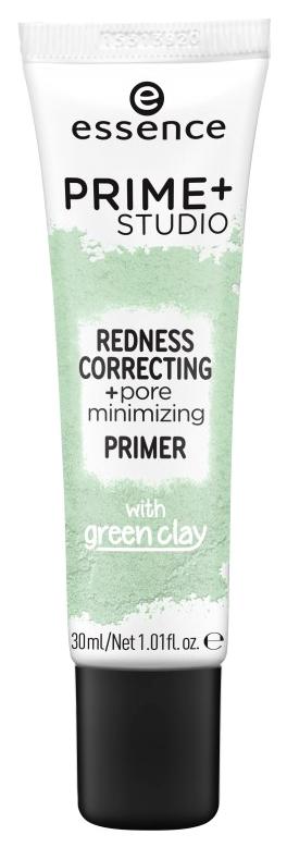 Основа для макияжа Essence Prime+Studio Redness Correcting+Pore Minimizing