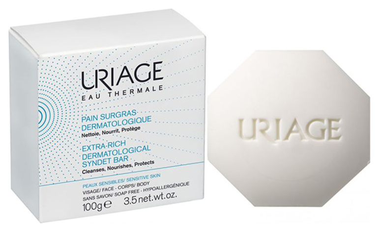 Косметическое мыло Uriage Extra-Rich Dermatological Syndet Bar 100 г