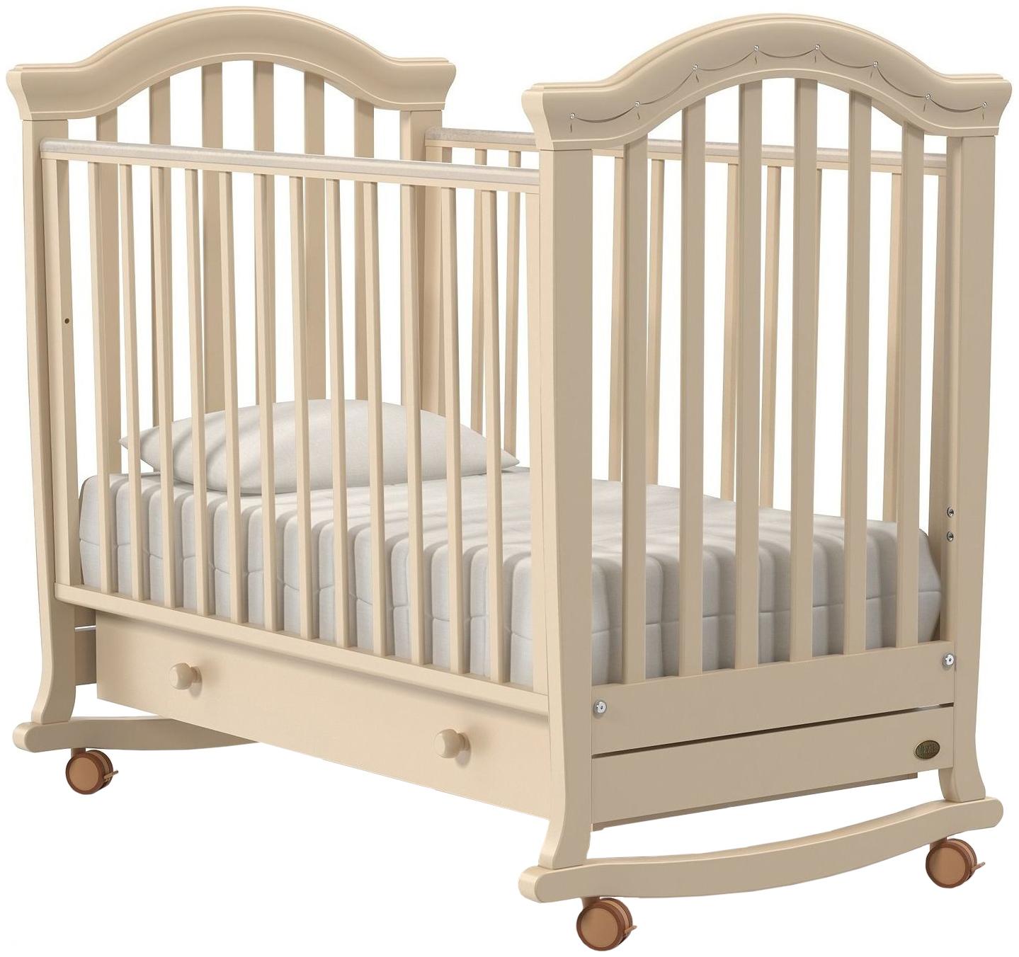 Кроватка Nuovita Perla Dondolo колесо-качалка avorio слоновая кость фото
