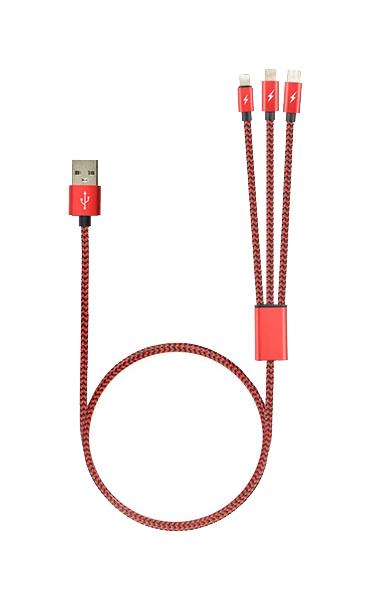 Кабель ROBITON P12 Multicord Lightning 1м Pink