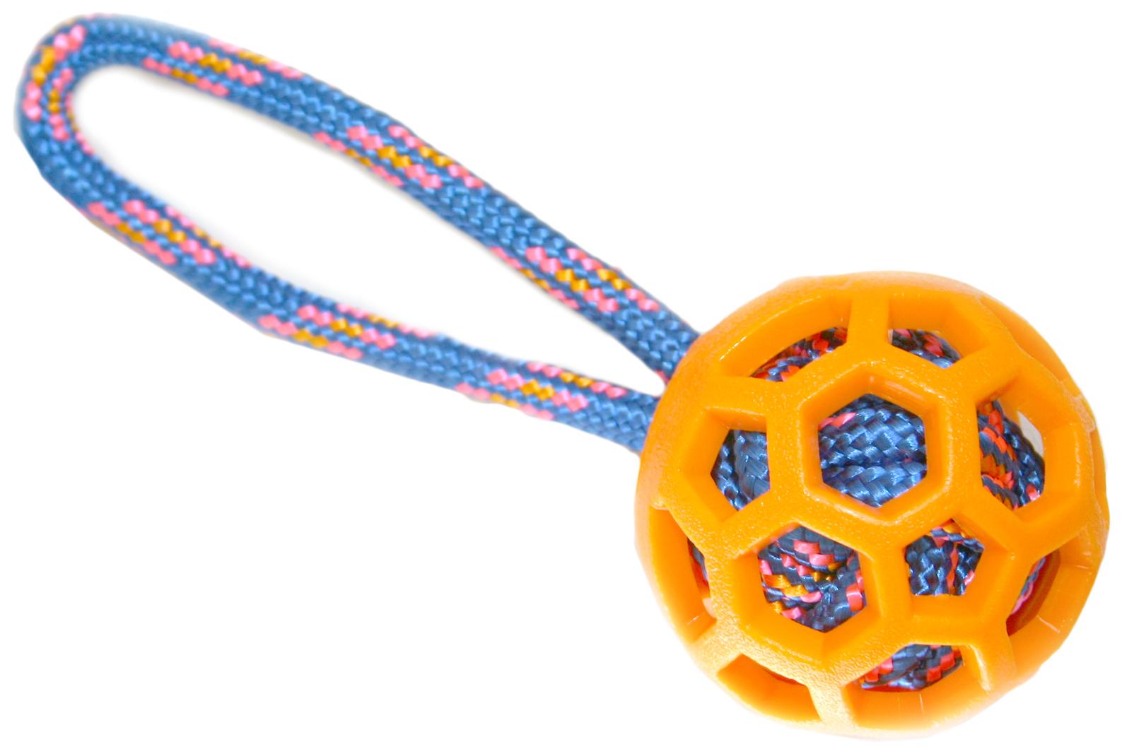 Игрушка для собак Nems Резиновый мяч с цветной