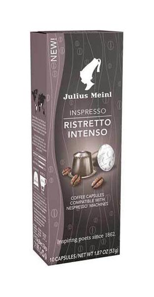 Капсулы Julius Meinl ристретто интенсо для кофемашин Nespresso 10 капсул для кофемашины