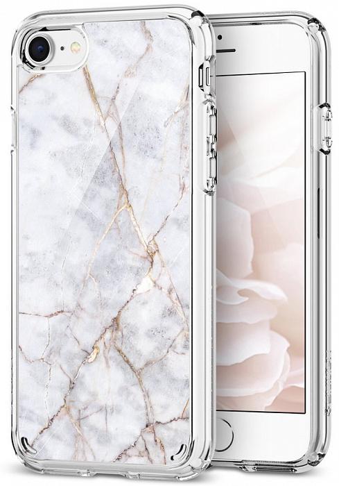 Чехол Spigen Ultra Hybrid 2 (054CS24049) для iPhone 7/8 (White Marble)
