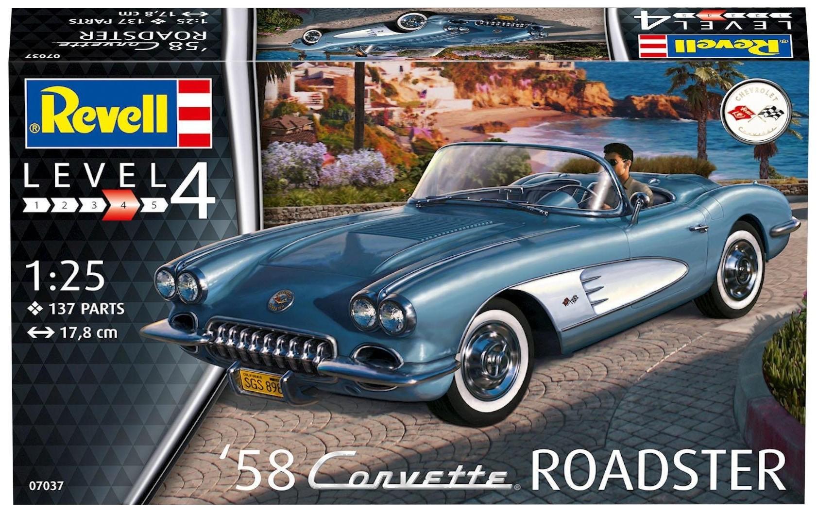 Купить Модели для сборки Revell Corvette Roadster 1958,