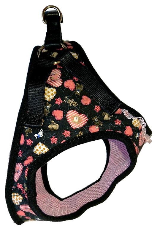 Шлейка для собак Premium Pet Japan Буржуа Мягкая S 7 кг Черный