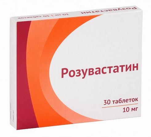 Купить Розувастатин таблетки, покрытые пленочной оболочкой 10 мг 30 шт., Озон ООО