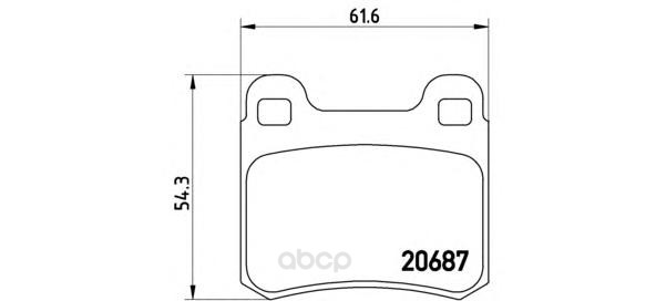 Тормозные колодки дисковые brembo P50013
