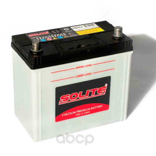 Аккумулятор автомобильный Solite 65B24LS 50А/ч 470А полярность обратная фото