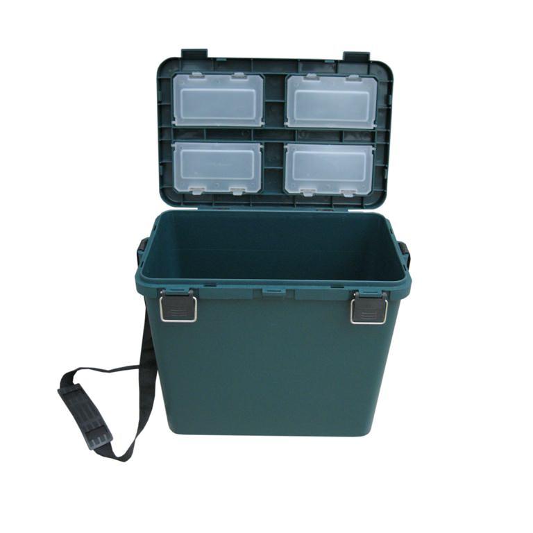 Рыболовный ящик Тонар Helios Ящик-М 19 л односекционный зеленый фото