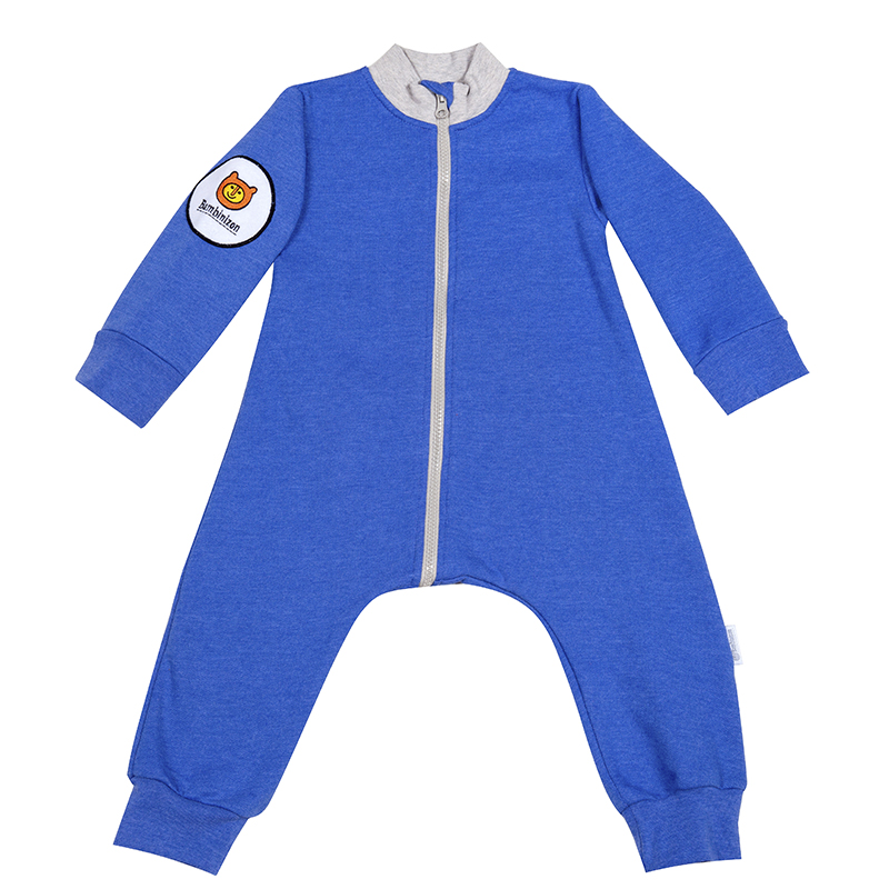 Купить Комбинезон Bambinizon из футера Синий Меланж ТКМ-БК-СИНМ р.74, Слипы и комбинезоны для новорожденных