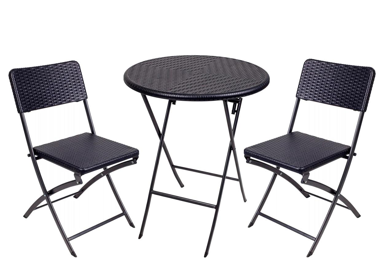 Набор складной мебели GoGarden NICE, садовый, 60 x 60 x 74 см, пластик/сталь