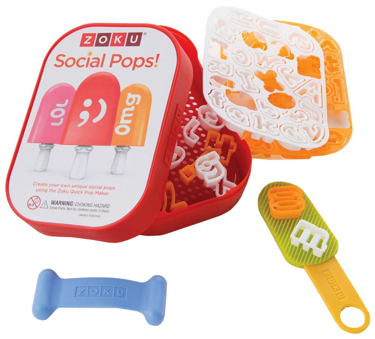 Набор для украшения мороженого Zoku Social media kit ZK112 Разноцветный
