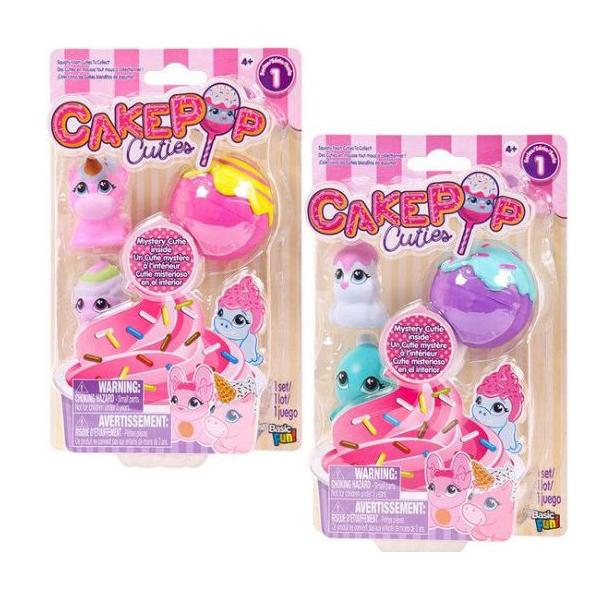 Купить Набор игрушек Basic fun Cake Pop Cuties 1 серия 3 штуки в наборе 27170, Игровые наборы