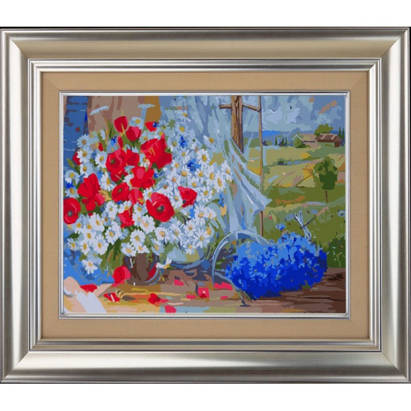 Полевые цветы - картина по номерам
