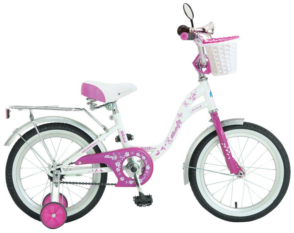 Велосипед Novatrack Butterfly белый/розовый 20 207BUTTERFLY.WPN9