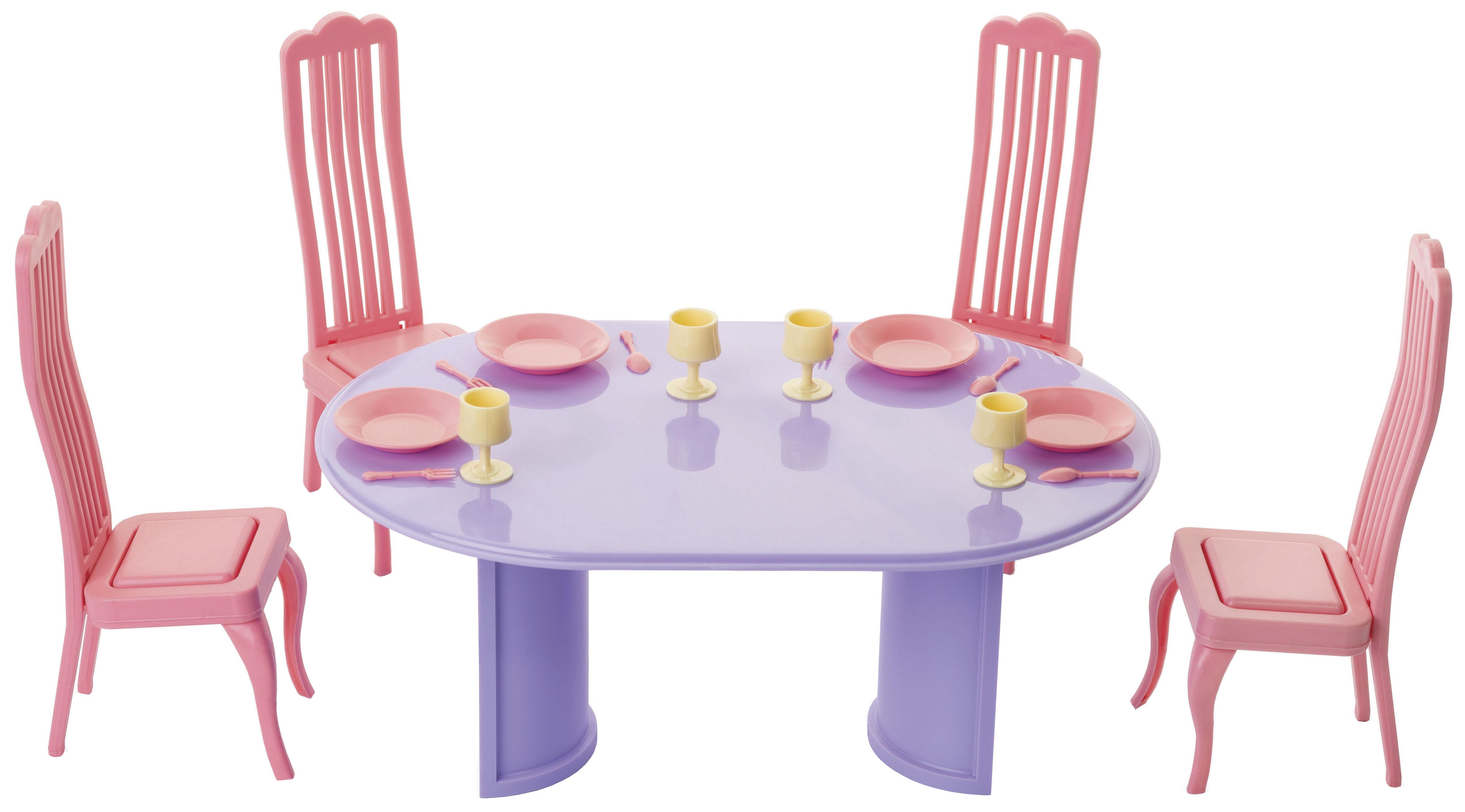 Купить Кукольные домики, Мебель для кукол Огонек Столовая Маленькая принцесса, Аксессуары для кукол