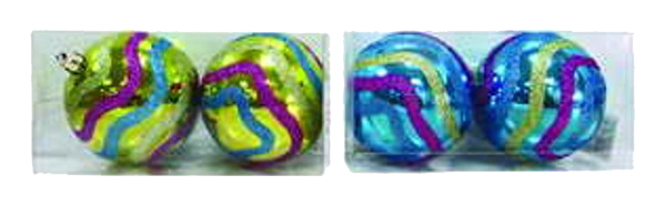 Набор елочных шаров Snowmen Разноцветная волна Е92038