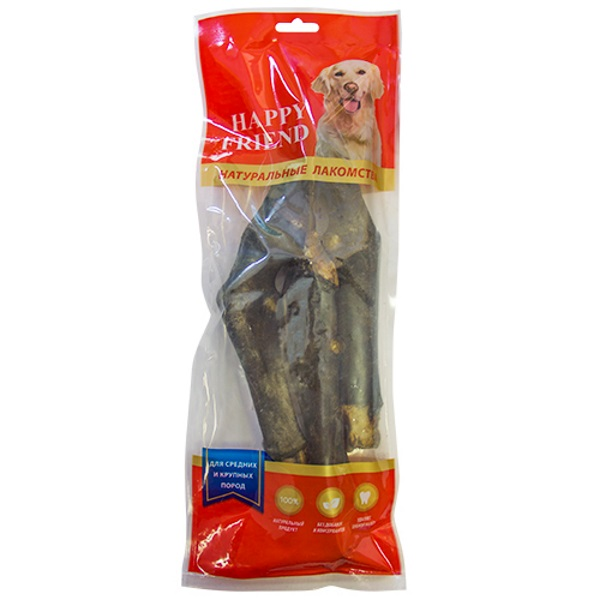 Лакомство для собак HAPPY FRIEND Ноги бараньи для средних и крупных пород 300г.