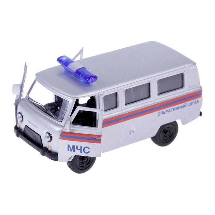 Машинка металлическая Автопанорама МЧС, серебро (1:50) 1200060