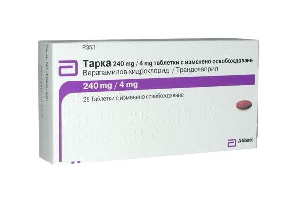 Тарка таблетки 240 мг+4 мг 28 шт.
