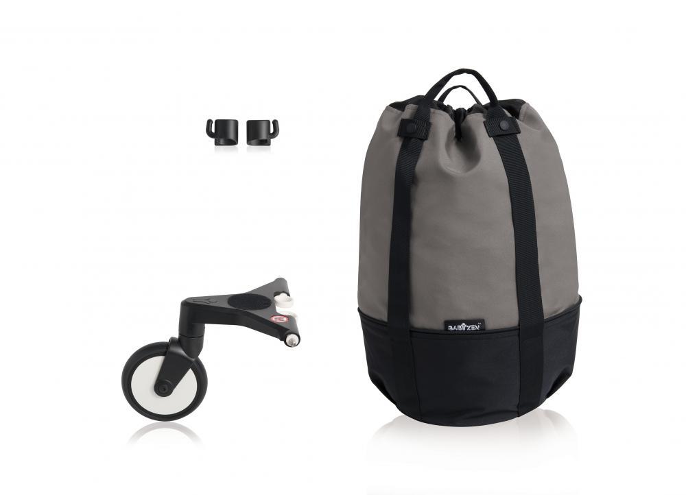 Купить Сумка для коляски Babyzen yoyo+ с колесом-платформой grey, Сумки и пеналы для коляски