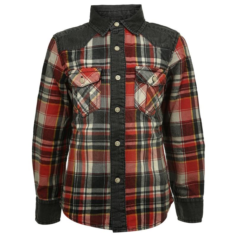 Купить Рубашка MEK Красный р.110, Детские блузки, рубашки, туники