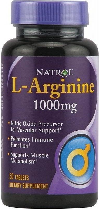 Natrol L Arginine 1000 50 таблеток без вкуса