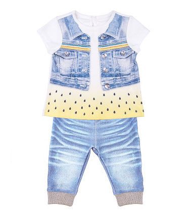 Купить Комплект одежды Папитто для девочки Fashion Jeans 520-04 р.22-74, Комплекты для новорожденных