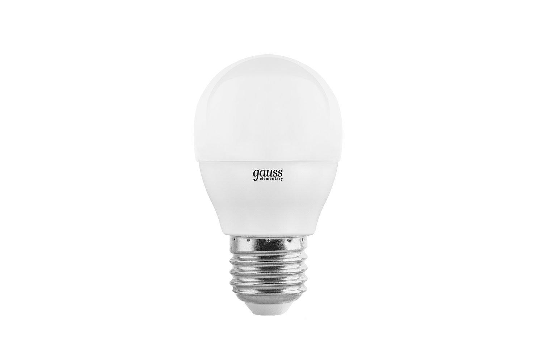 Лампочка Gauss Elementary G45 E27 8W 4100K 53228