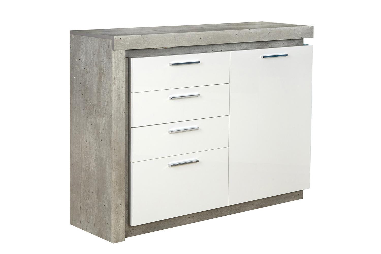 Комод Hoff 95,5х129х36,6 см, серый