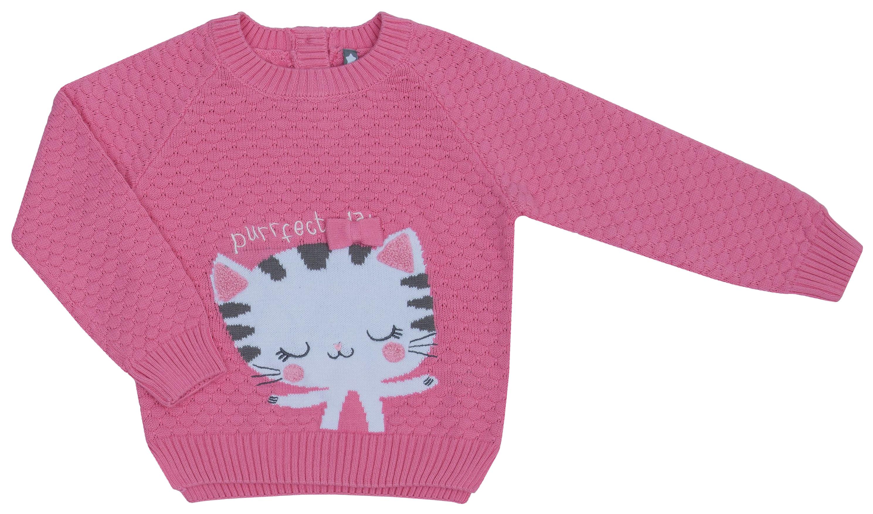 Купить Джемпер для девочки Be2Me Китти, розовый р.92, Детские джемперы, кардиганы, свитшоты