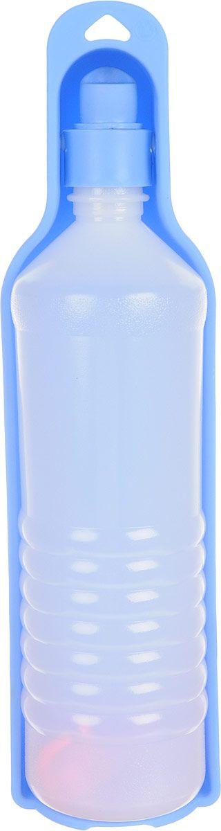 Поилка для животных GiGwi Дорожная бутылка, голубая,