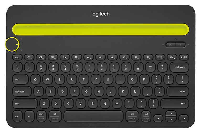 Беспроводная клавиатура Logitech K480(920 006368) Yellow/Black (920