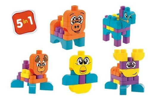 Конструктор для малышей Chicco Набор строительных блоков: Животные 8225