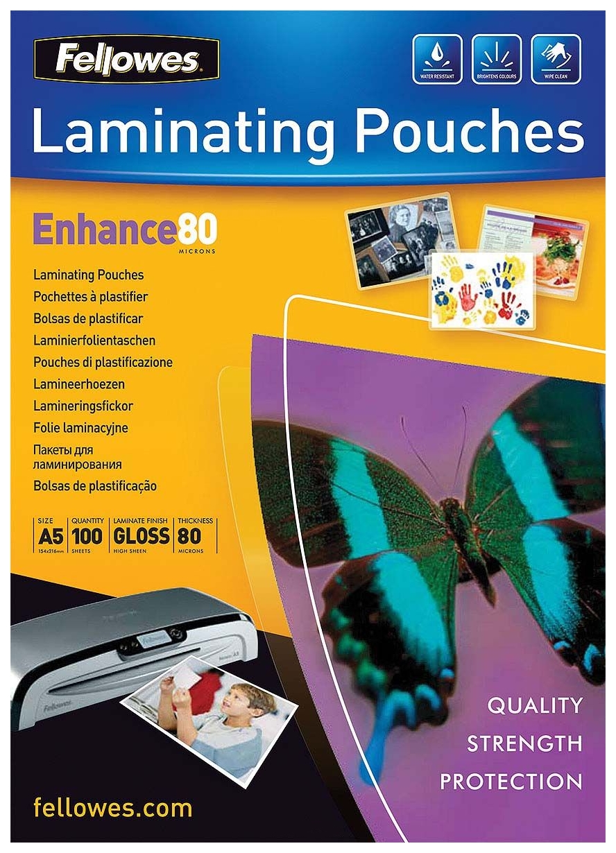 Пленка для ламинирования Fellowes FS-53060 А5 80 мкм 100 шт. фото