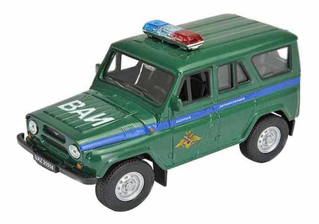Купить УАЗ 31514 Военная автоинспекция, Машинка инерционная Welly 42380MC Модель машины 1:34-39 УАЗ 31514 Военная Автоинспекция, Военный транспорт