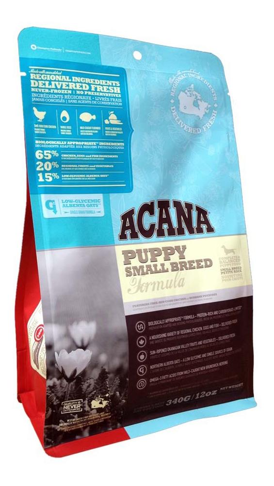 Сухой корм для щенков ACANA Heritage Puppy Small Breed, для мелких пород, цыпленок, 0,34кг фото