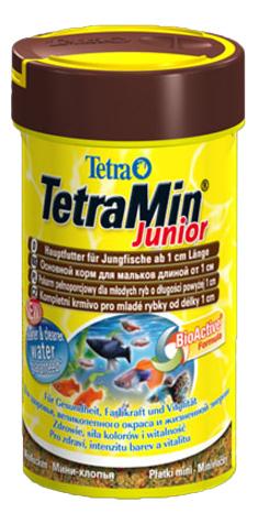 Корм для молоди рыбы Tetra Min junior, хлопья, 100 мл фото