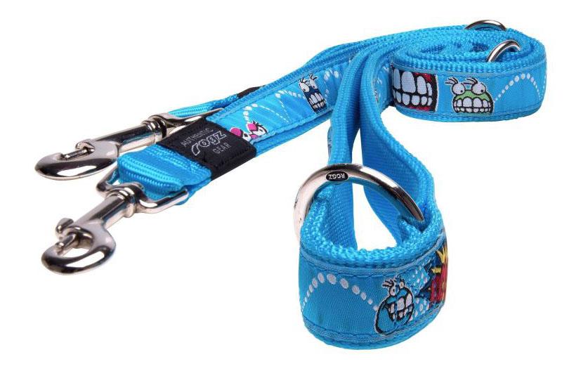 Поводок перестежка для собак Rogz Fancy Dress XL-25мм 1,8 м (Голубой HLM02BX)