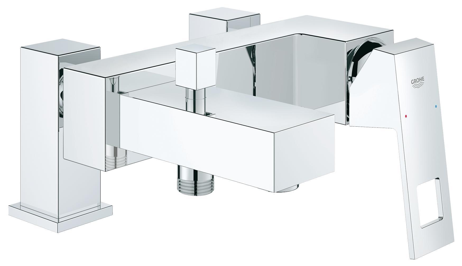 Смеситель для ванны на борт Grohe Eurocube 23143000 хром